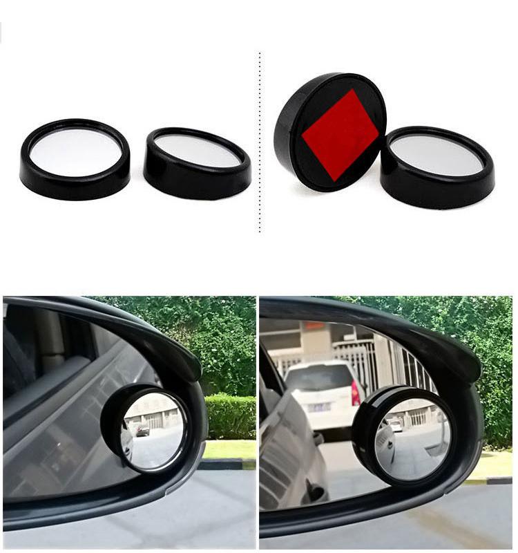 2pcs 360 Rotation Auto Car Rotatable Rear View Side Mirror
