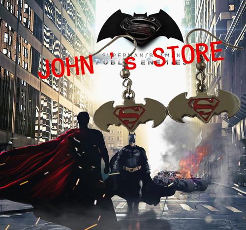 Freeshipping 20pc a lot Batman v Superman logo Earring AAZSZ05<br><br>Aliexpress