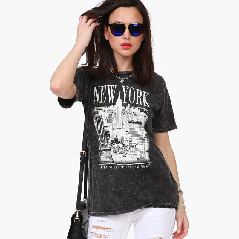 2016 Fashion Summer Style T Shirt Women Tops New York