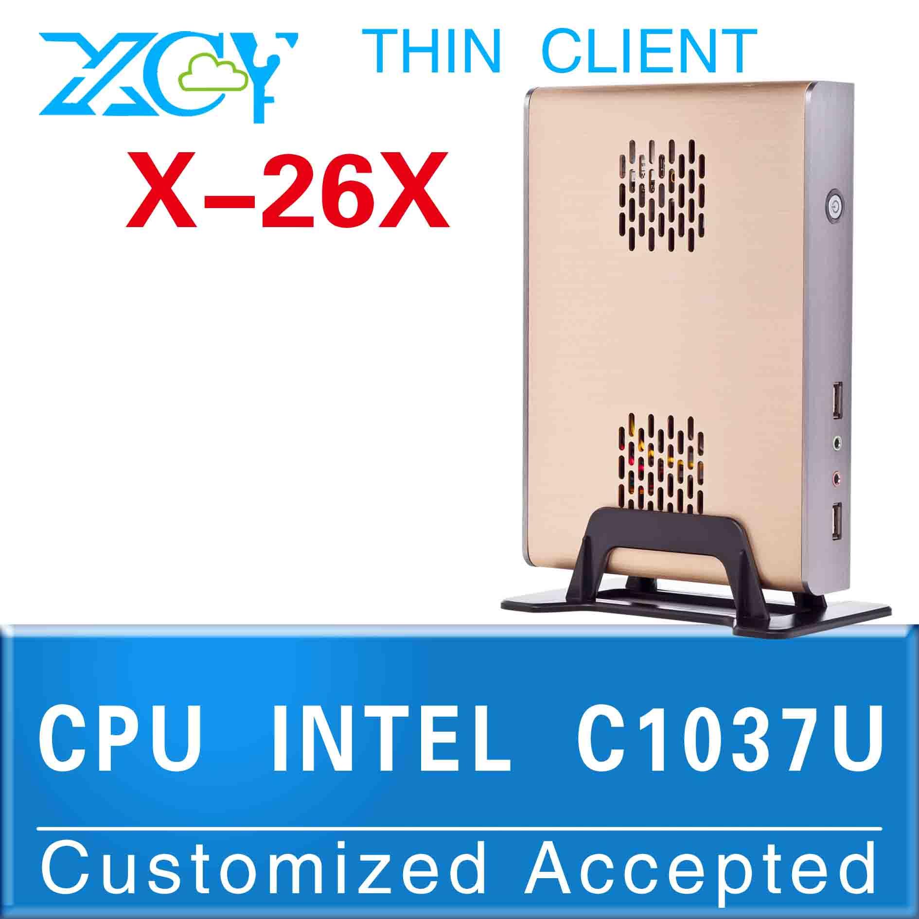 1 pcs Big Promotion!!! C1037U X-26X mini pc linux Mini itx pc cases MINI ITX PC support video(China (Mainland))