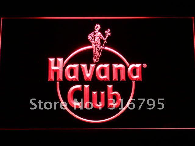 a218-r Havana Club Rum LED Neon Light Sign(China (Mainland))