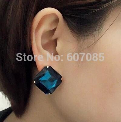 Fashion graciously princesss geometry square crystal stud earrings<br><br>Aliexpress