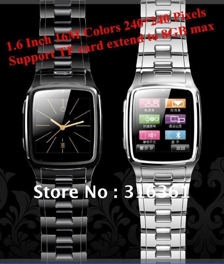 Stainless Steel Java Watch Phone 1.6 Inch 16M Pixels Support TF card extend to 8GB max watch cell phone Free shipping!!!(China (Mainland))