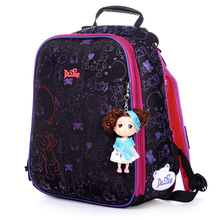 High quality Lovely children free Doll beautiful school bag girl students creative travel backpack kids cartoon Stationery bag(China (Mainland))