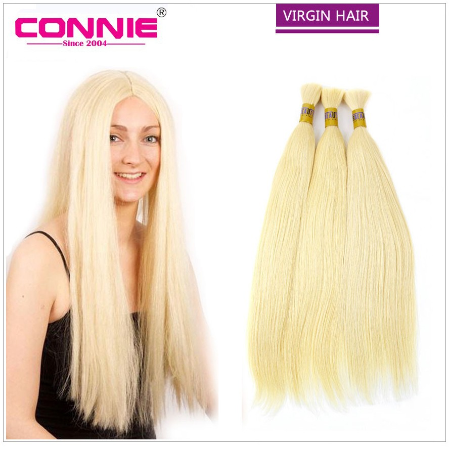 Brazilian Virgin Hair Bulk Braiding 613# Brazilian Hair Straight 100g/Bundle Bulk Human Hair Extensions