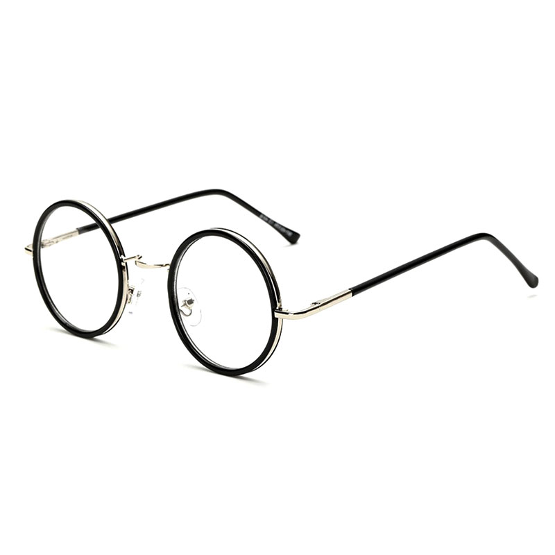 vintage round eye glasses frame men women brand designer reading metal circle frame optical eyeglasses eyewear