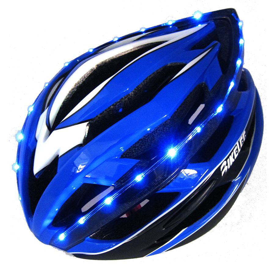 2016 New Road Bicycle Helmet Light LED 256g EPS+PC Blue MTB Bike Helmet Mountain BMX Cycling Helmets Kask Casco Ciclismo Size M<br><br>Aliexpress
