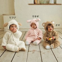 Retail Baby winter animal romper,Super cute animal shapes suit With Cap,long sleeve Baby wear clothes(China (Mainland))