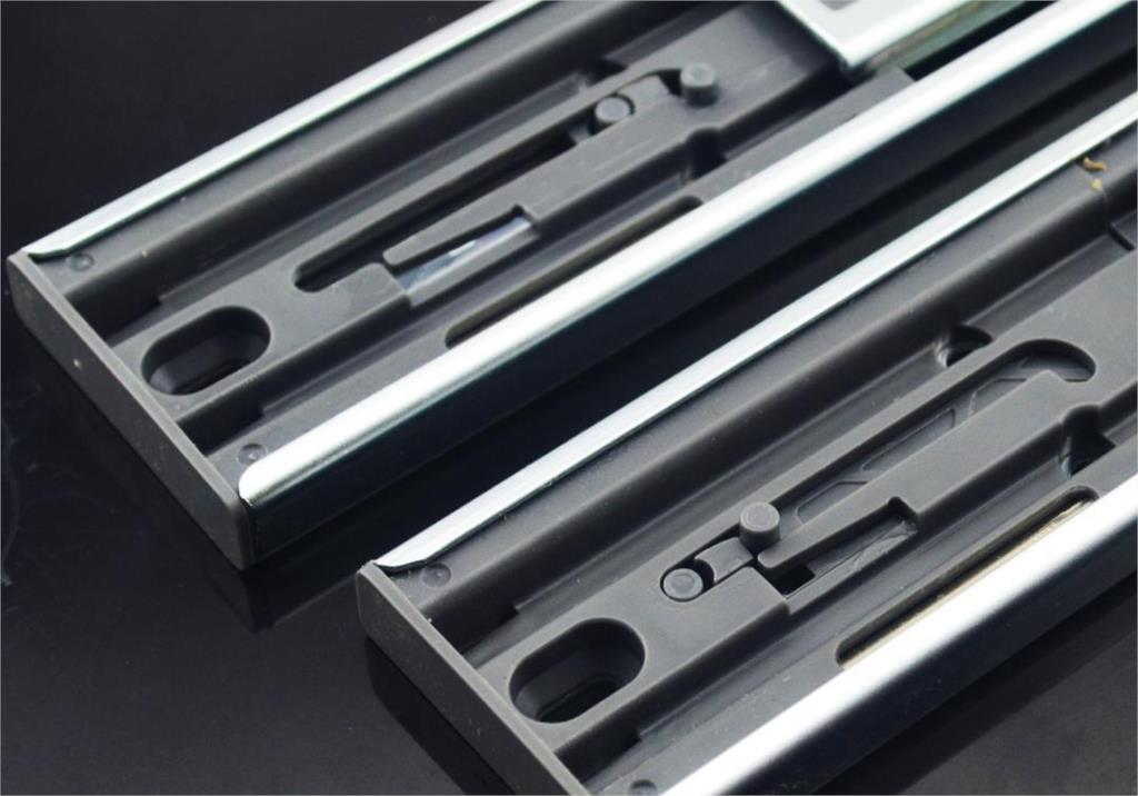Hardware three rail track drawer hydraulic damping and full extension slide mute wardrobe(China (Mainland))