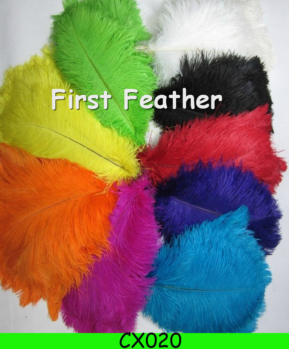 100pcs/lot dyed Ostrich Feathers Color Optional 30-35cm/12-14Inch ostrich plumes feather plumes and ostrich feathers CX035(China (Mainland))