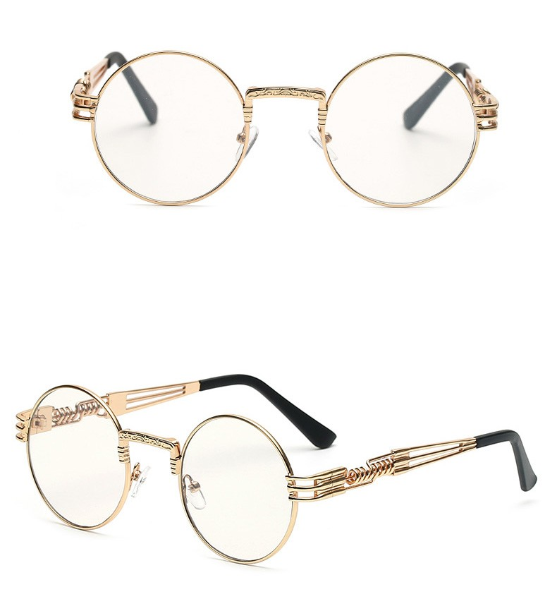 2018 Wholesale New Clear Fashion Gold Round Frames Eyeglasses For ...