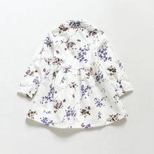 Niños Nova casua moda de la muchacha blusa de la ropa de otoño bebé caliente de la venta túnica superior camisa de las muchachas(China (Mainland))