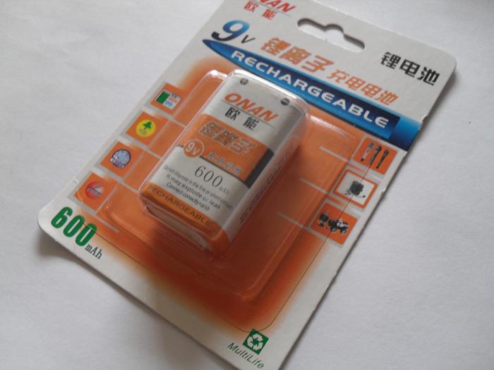 50pcs/lot New Original 9V 600mAh Li-ion Lithium microphone Rechargeable battery batteries EMS DHL Free Shipping(China (Mainland))