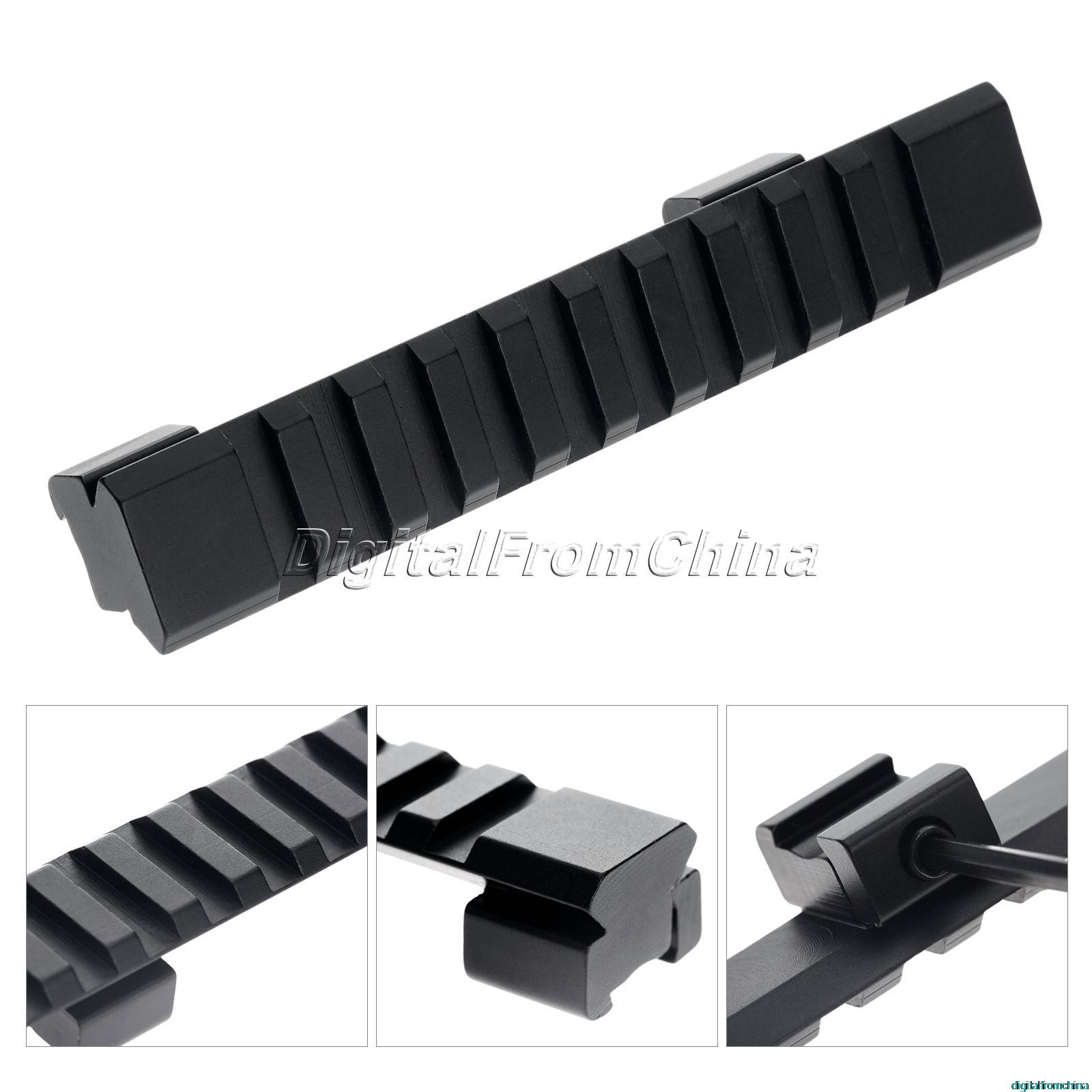 """D0023 11mm Rail Mount Aluminum Alloy Picatinny Weaver Rail with 10 Slots"""" 124mm Length for Hunting Rifle / Air Gun Scope Mount(China (Mainland))"""