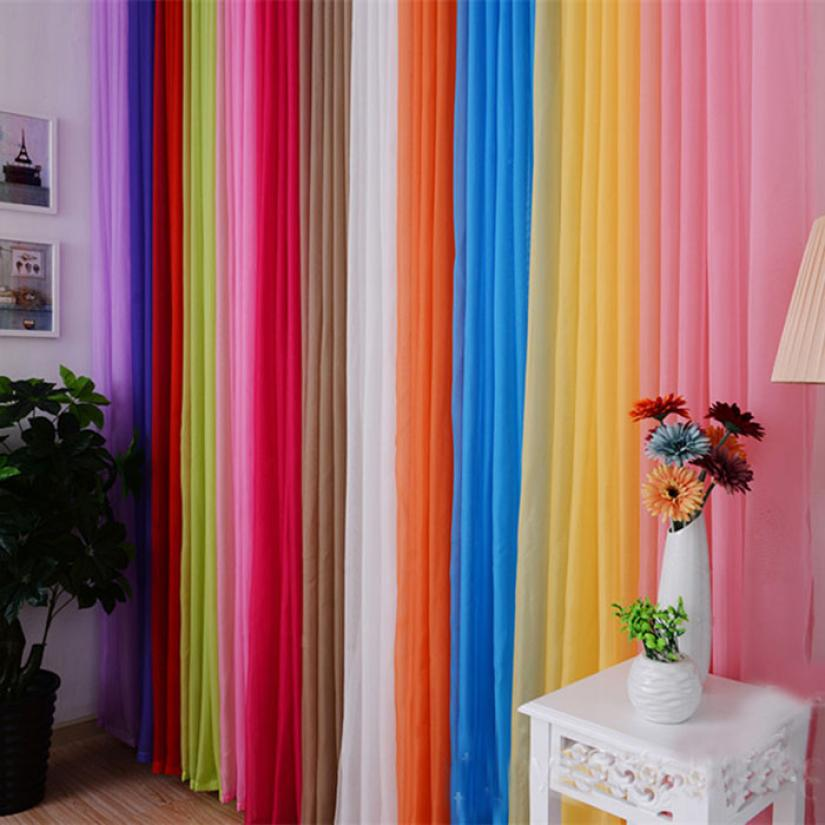 hot 12 colors curtains sheer curtains window curtain for