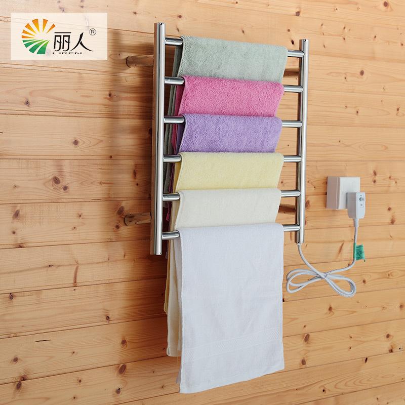 LiRen Brand New M6 500mm(W) x 500mm(H) Stainless Steel Electric heating towel rack temperature control radiator towel warmer(China (Mainland))