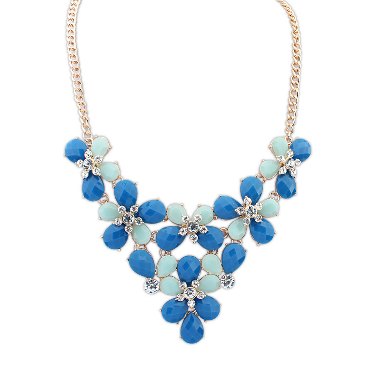 necklace women 2014 New European and American new bohemian butterfly flower necklace welcome global buyers to join(China (Mainland))