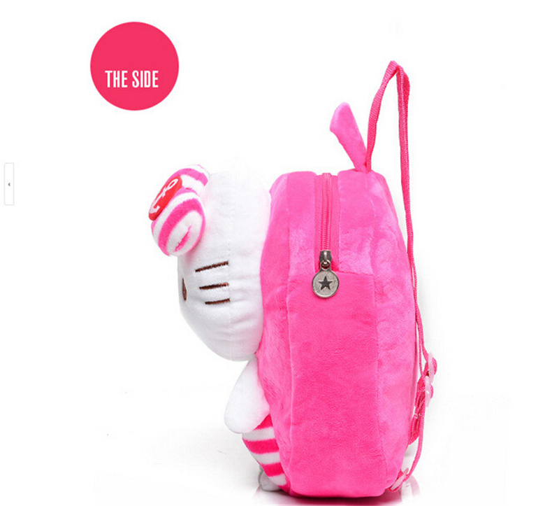 25*23cm brand new cute Supper soft plush 3D navy hello kitty backpacks school bag/lovely cartoon school bag for baby(China (Mainland))