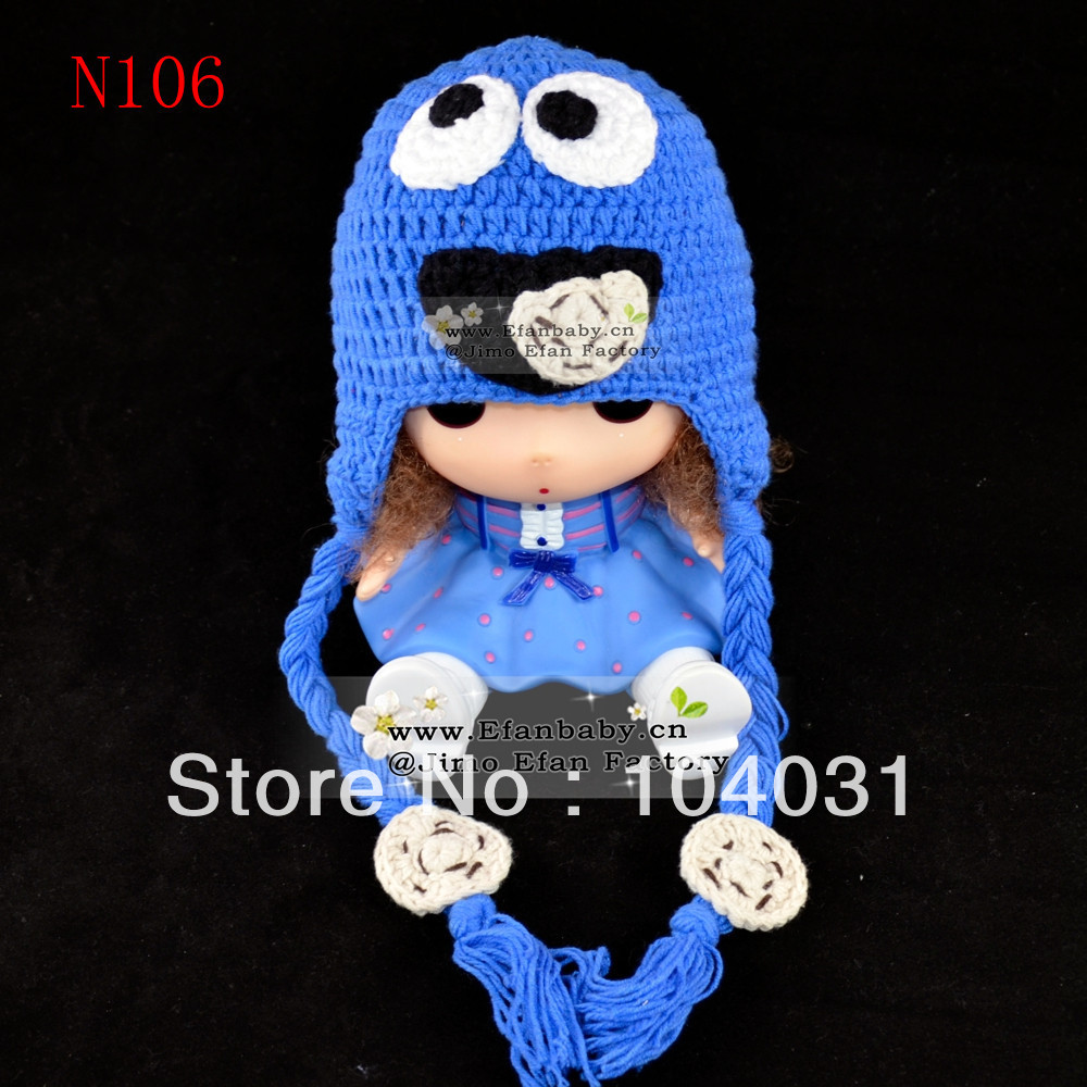 Hot sell Cute new style newborn baby knitting sleeping animal hat in spring and autumn crochet hats for infants(China (Mainland))