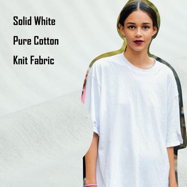 Solid White Pure Cotton