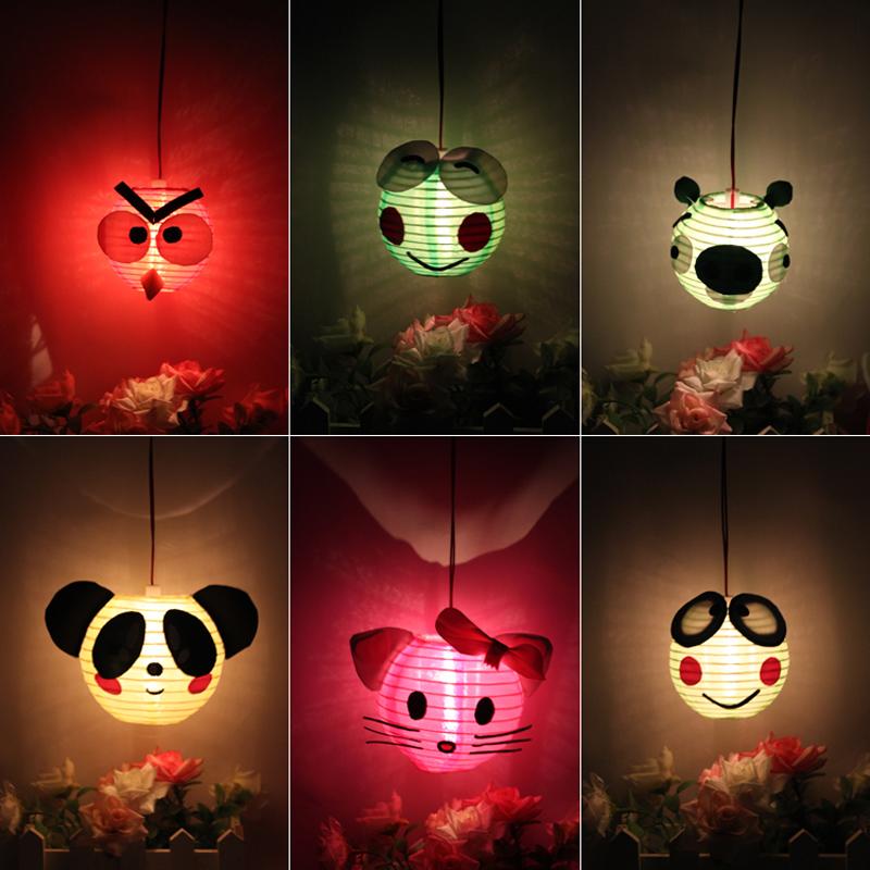 2016 DIY Animal Paper Lanterns 30pcs/lot EVA Eco-friendly Materials Kid DIY Decoration Lanterns Wholesale Festival Decoration(China (Mainland))