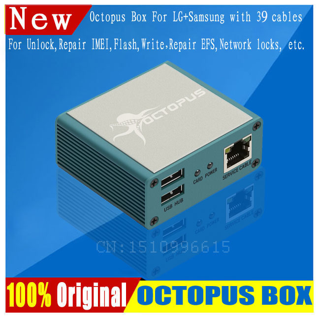 Free shipping+100% Original Octopus box for Samsung &LG Pre-activated New update For Samsung S5 (package with 39 cables)(China (Mainland))