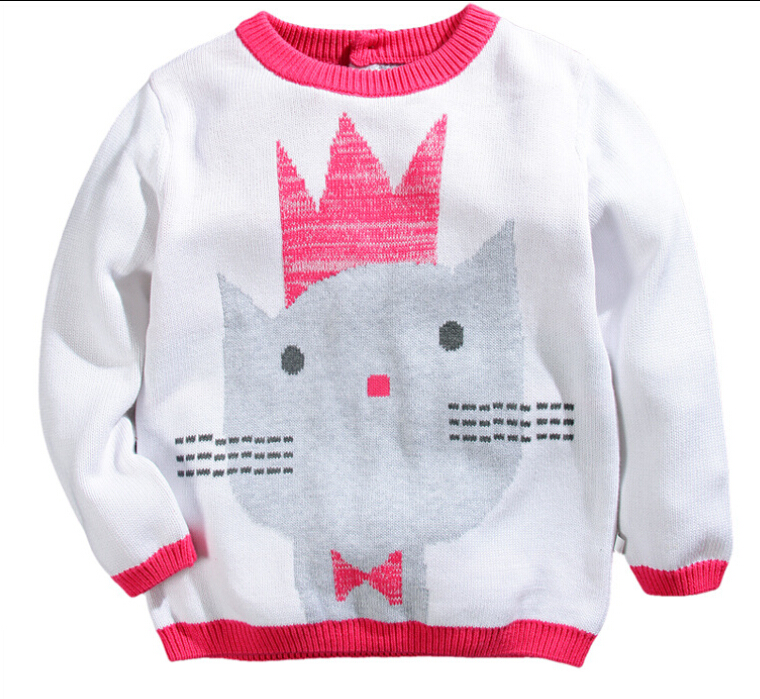 High Quality Girls White & Pink Sweaters Cotton Soft Warm ...