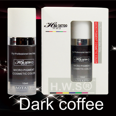 1Pcs Top Professional Vacuum Aseptic Makeup Pigment 10ml/bottle Dark coffee Permanent Makeup Tattoo Ink With Box<br><br>Aliexpress