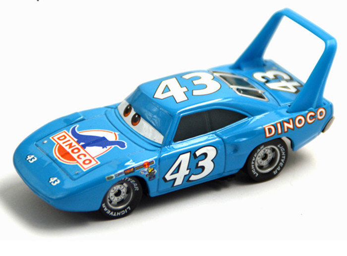 Hot sale children gift Pixar Cars diecast toy Funny blue No. 43 Dinoco Car King Racing Alloy car model brand new hot sale(China (Mainland))