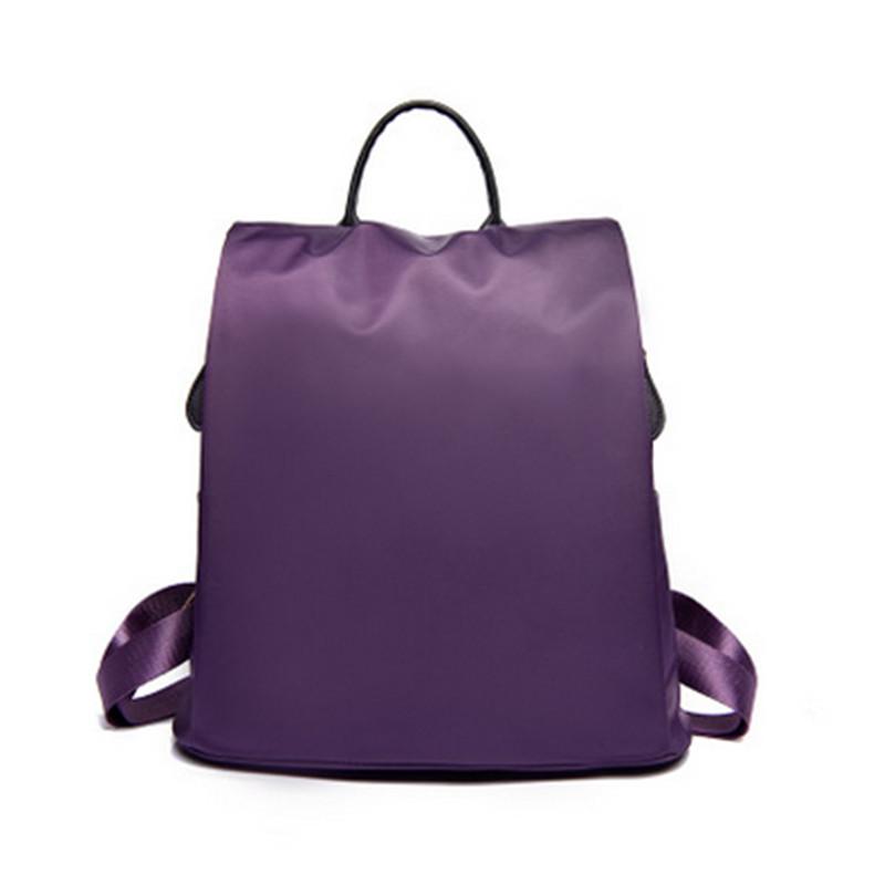 Promotions Nylon Shoulder Bag Korean Version Simple Wild Leisure Travel Backpack Waterproof Canvas Purple 2016 New Women Bags(China (Mainland))