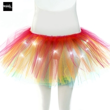 Buy 2017 Women Party Skirts Performance Dance New fashion Charming LED Lights Tutu Skirts Sexy Light Mini skirt Party for $9.79 in AliExpress store