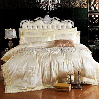 MFH French Luxury bedding sets Mordern bed linen designer lace duvet covers Christmas bedclothes cotton sheets king size gift.(China (Mainland))