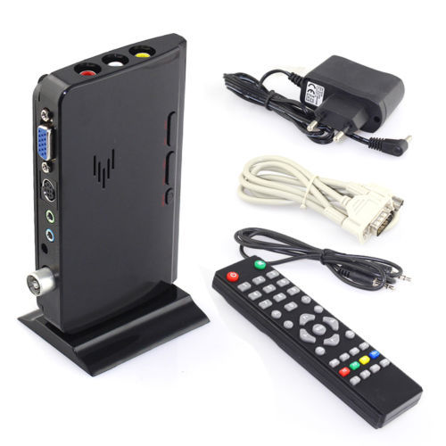 Hotter External LCD VGA TV PC Box Analog Program Receiver Tuner HDTV 1900*1200(China (Mainland))