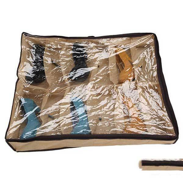 Frostburg 12 Pairs Tidy Under Bed Fabric Shoe Storage Organizer Box Closet Bag(China (Mainland))