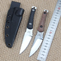 Black Micarta D2 Survival Fixed Blade Knife Sharpest Hunting Straight Knife Outdoors Camping EDC Rescue Tools