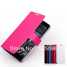 Fresh Rich Color Flip Leather+PC Case With Slim Magnetic With stand Cover,Leather Case For Lenovo S898T ,Free Shipping(China (Mainland))