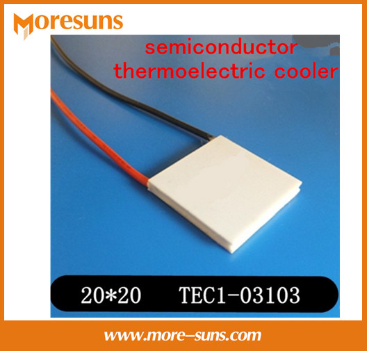 Fast Free shipping 10pcs/lot New small power semiconductor thermoelectric cooler TEC1-03103 20*20*4.1mm tec(China (Mainland))