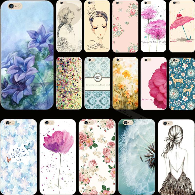 Hot Sold!! Popular Painted Flower Hard Cover Case For Apple iPhone 4 iPhone 4S iPhone4S Cases Phone Shell CIF LSN FBW QJRD(China (Mainland))