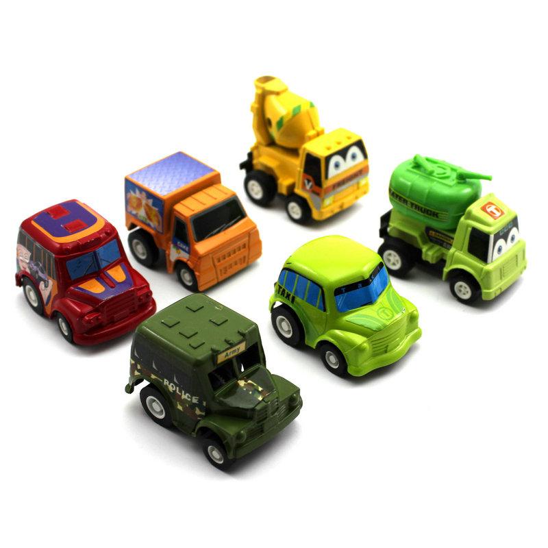 6Pcs/set Kids Children's Pull Back Model Car Vehicle Sets Educational Toys Game (Random)(China (Mainland))