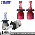 Oslamp H4 LED Car Headlight Bulb 72W 8000lm 80W 9600lm 6500K CREE Chips High Low Beam