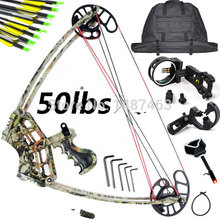 ,free shipping 2015 New M109 Camo Set, Camouflage Triangle Hunting Compound Bow and Arrow, China Archery,Hunting Arrow Set
