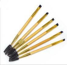 Double Ends Makeup Tools Bamboo Brushes Eyelash Lashes Blending Eye Brush Mascara Cosmetic Eyebrow Comb Make up Maquiagem(China (Mainland))