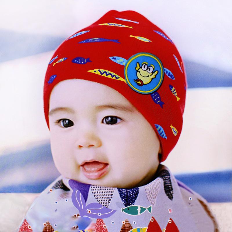 8 colors Spring Cap Child 2016 Infant Baby Hat Skull cap Cotton Kids Beanie Hats 0-1year Newborn Baby Cartoon Head Hat LQJH051(China (Mainland))
