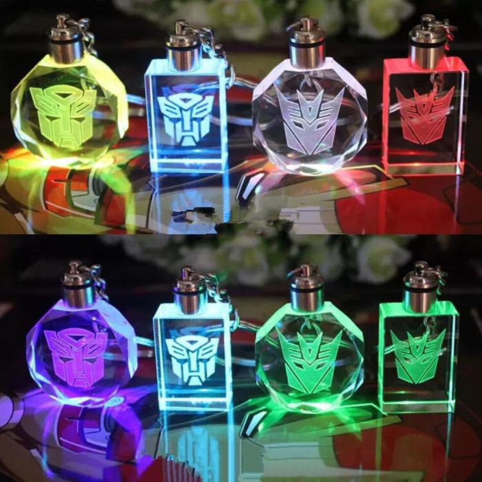 Custom!Novelty gifts transformation Robot Autobot Optimus Prime/Bumble Bee/Jazz keychain keyring Luminous Toys car styling TC203(China (Mainland))