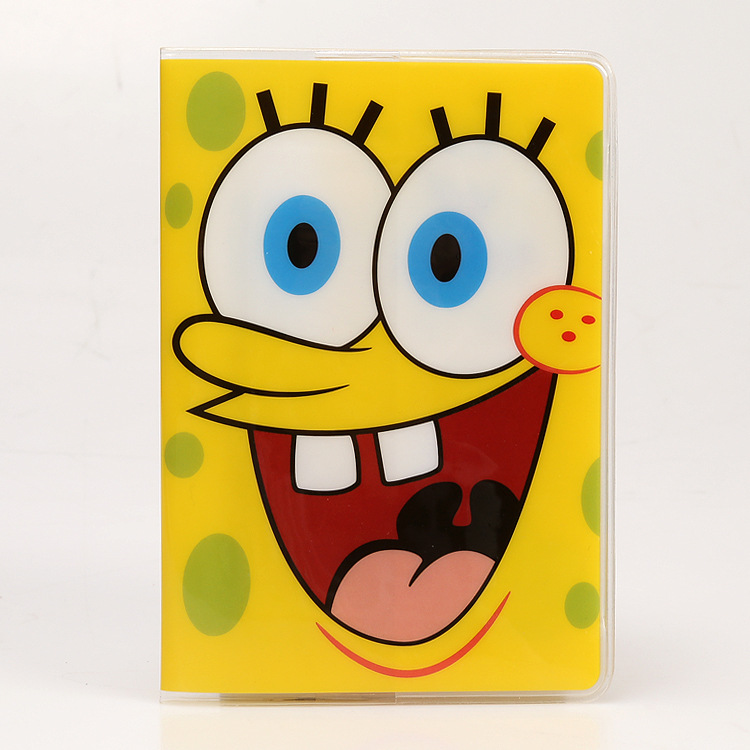 SpongeBob sponge baby foreign trade passport covers a number of functional documents to protect the PVC waterproof document sets(China (Mainland))