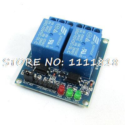 5V 2Channel Optocoupler Driver Low Level Relay Expansion Board Module