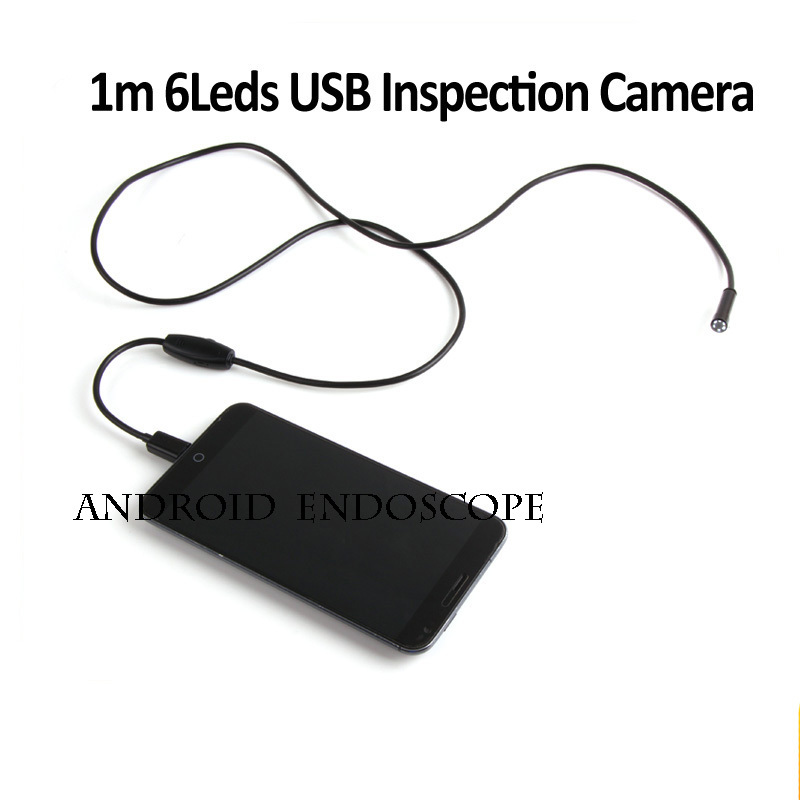 3pcs/lot 1M Android Endoscope USB 7mm 6 LED IP66 Waterproof Camera USB OTG Ready Digital Microscope Borescope Magnifier(China (Mainland))