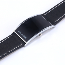 2016 Fashion Luxury Brand Unisex Men Women Arch Bridge Style LED Digital Date Faux Leather Strap
