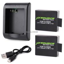 Xcsource Micro USB Charger 2x 1100mAh Lithium Digital Battery For SJ4000 Actiong Sport Camera BC426