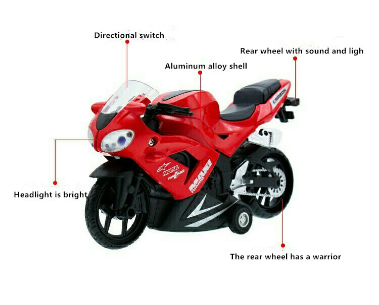 1:32 simulation motorcycle toy sports car model acousto-optic boomerang children toy car
